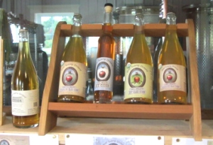 A sampling of ciders