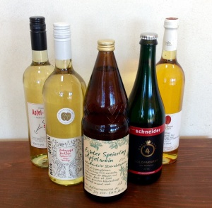 A selection of Apfelweins