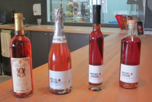 Some of the Jodoin rosé ciders
