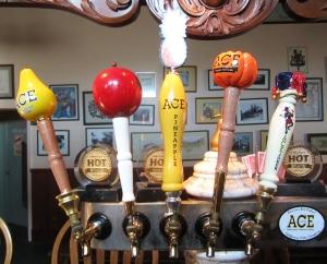 Tasting room tap handles